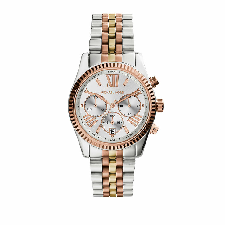 watches, Michael Kors, MK5735 Lexington Ladies Watch Slvr/Gld/RseGld