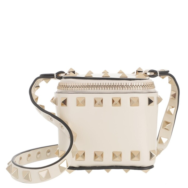 bags, Valentino Garavani, Rockstud Pouch Light Ivory