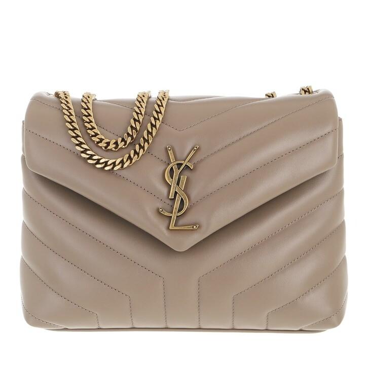bags, Saint Laurent, LouLou Shoulder Bag S Leather Taupe