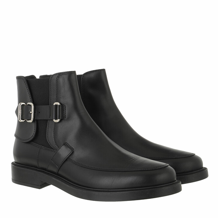 shoes, Tod's, Ankle Boots Leather Black