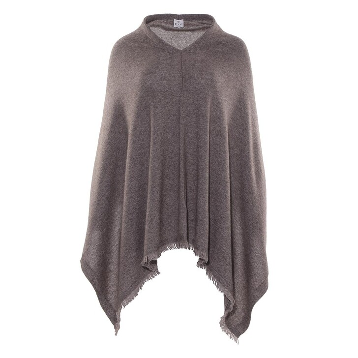 scarves, FTC Cashmere, Poncho RN Truffle