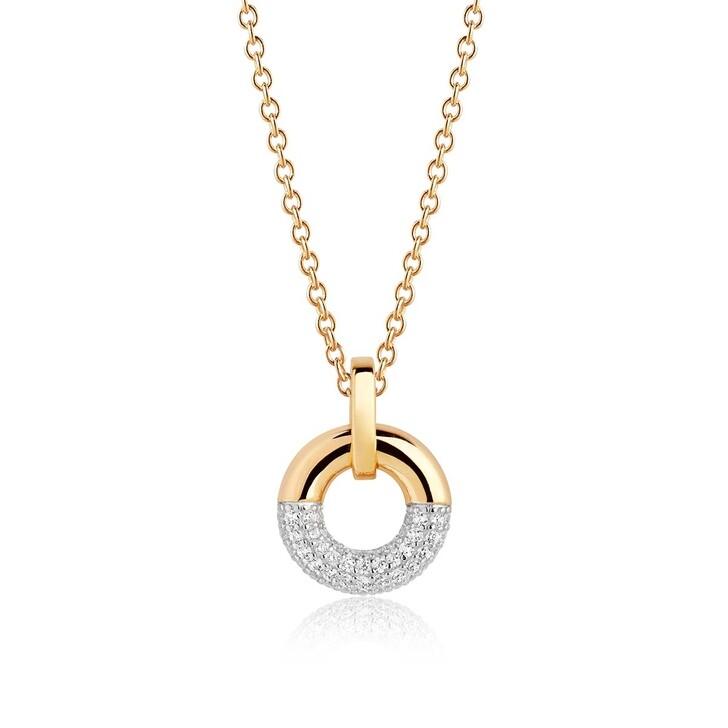 Kette, Sif Jakobs Jewellery, Cannara Pendant White Zirconia 18K Gold Plated