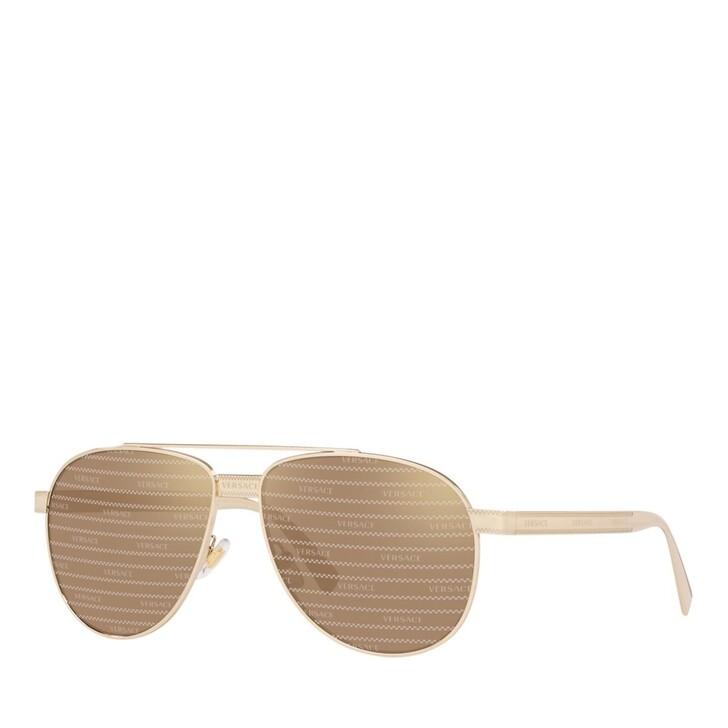 Sonnenbrille, Versace, STAHL MAN SONNE PALE GOLD