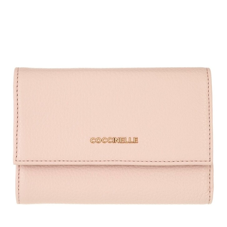 wallets, Coccinelle, Wallet Grainy Leather  New Pink