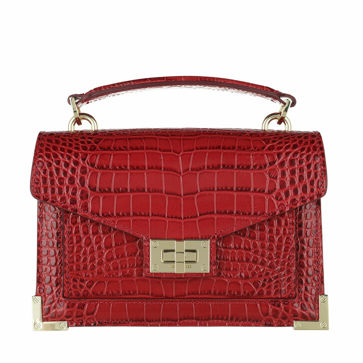 bags, The Kooples, Small Bag Emily Croco Red