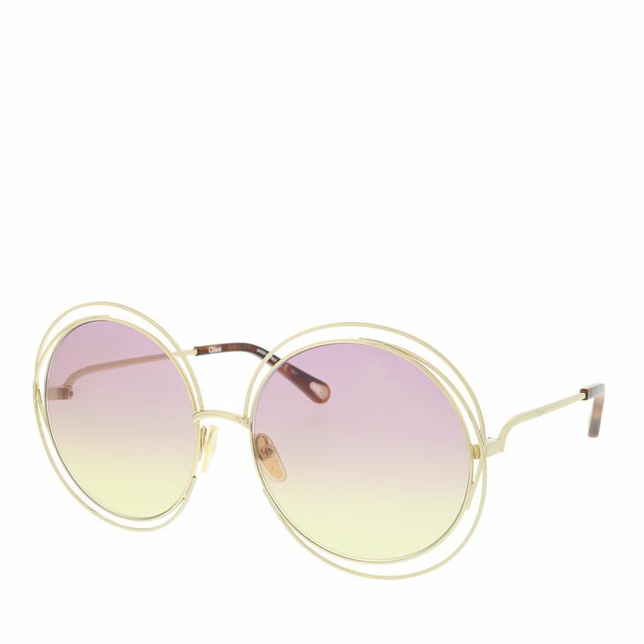 Sonnenbrille, Chloé, Sunglass WOMAN METAL GOLD-GOLD-PINK