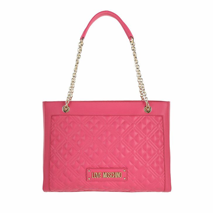 bags, Love Moschino, Borsa Quilted Nappa  Fuxia