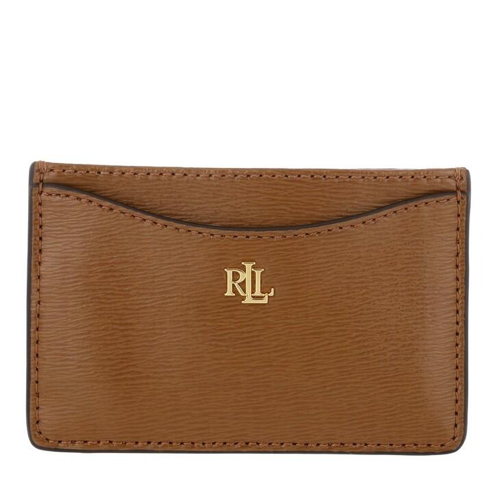 Geldbörse, Lauren Ralph Lauren, Slim Card Cs Card Case Medium Lauren Tan
