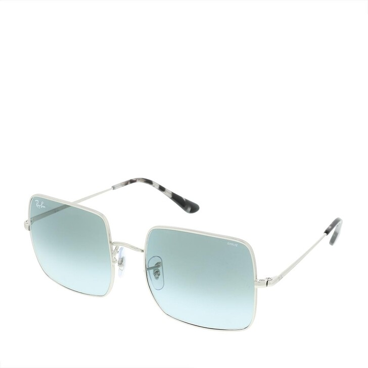 Sonnenbrille, Ray-Ban, Square Silver