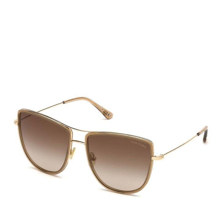 Sonnenbrille, Tom Ford, Women Metal Sunglasses FT0759 Rose Gold/Brown