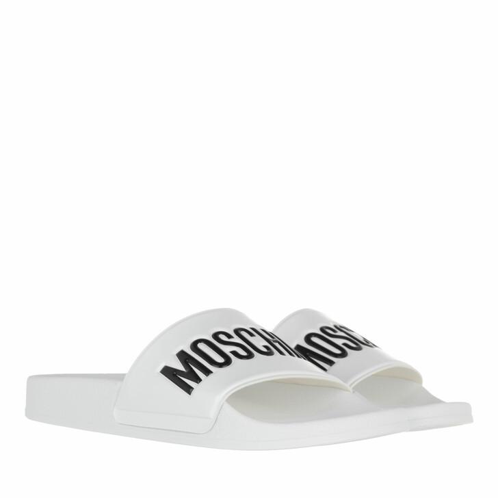 shoes, Moschino, Sabotd Pool25 Pvc  Logo  Nero