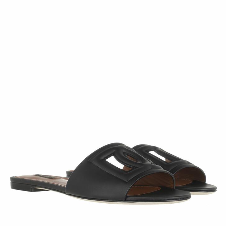 shoes, Dolce&Gabbana, Bianca Mules Black