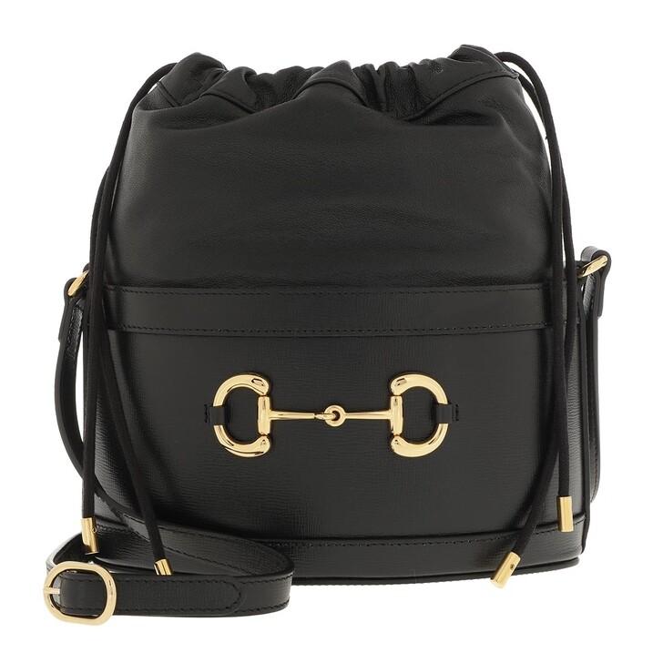 Handtasche, Gucci, Horsebit Bucket Bag Black