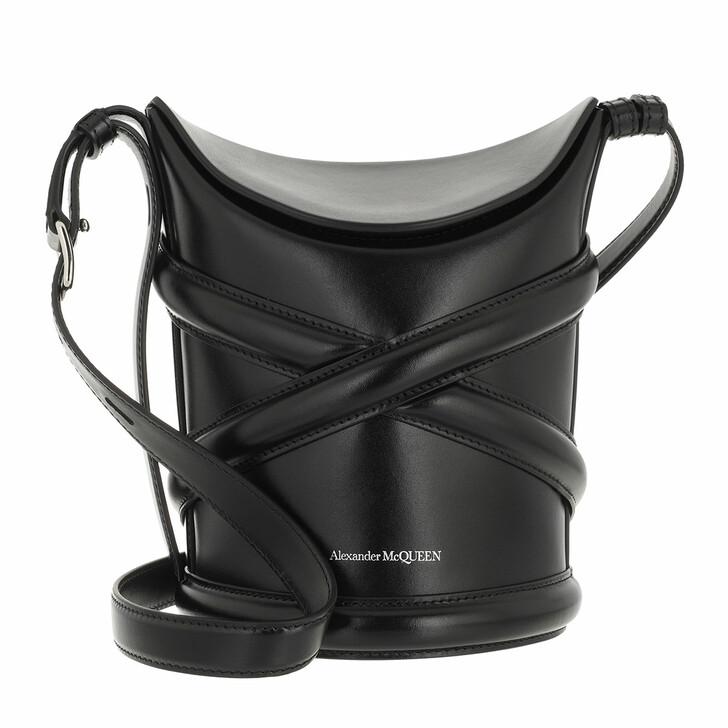 bags, Alexander McQueen, The Curve Crossbody Bag Black