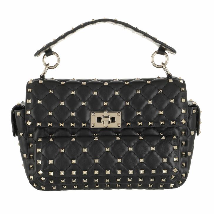 bags, Valentino Garavani, Rockstud Shoulder Bag Leather Black