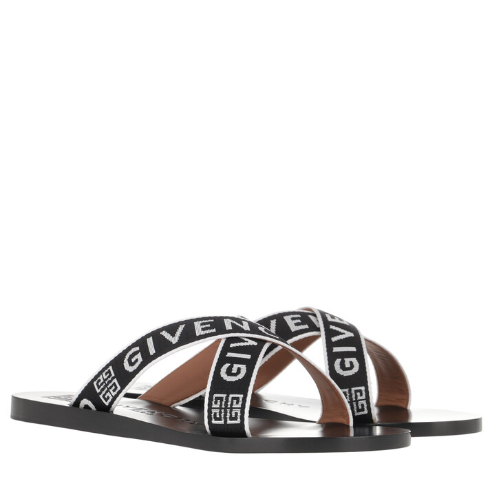 Schuh, Givenchy, Logo Strap Sandals Black/White