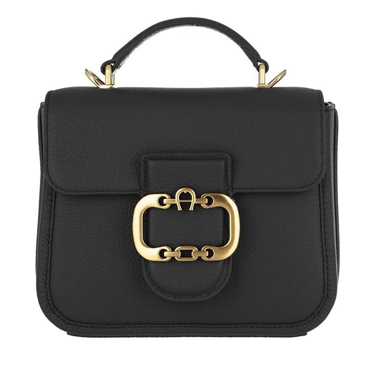 Handtasche, AIGNER, Celia Handle Bag Black
