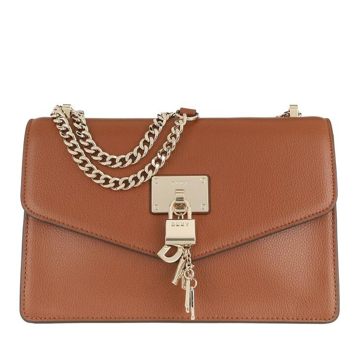 bags, DKNY, Elissa Large Shoulder Flap Caramel