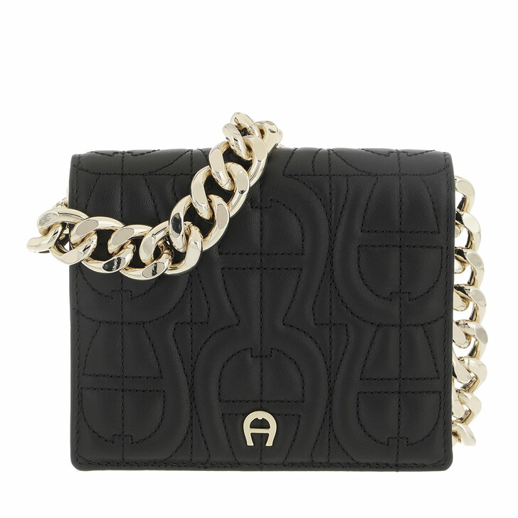 wallets, AIGNER, Fashion Wallet Black