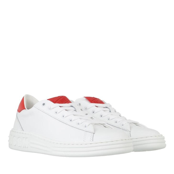 shoes, MSGM, Scarpa Donna Red Optical White