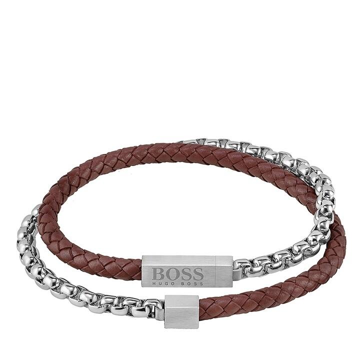 Armreif, Boss, Bracelet Silver/Brown