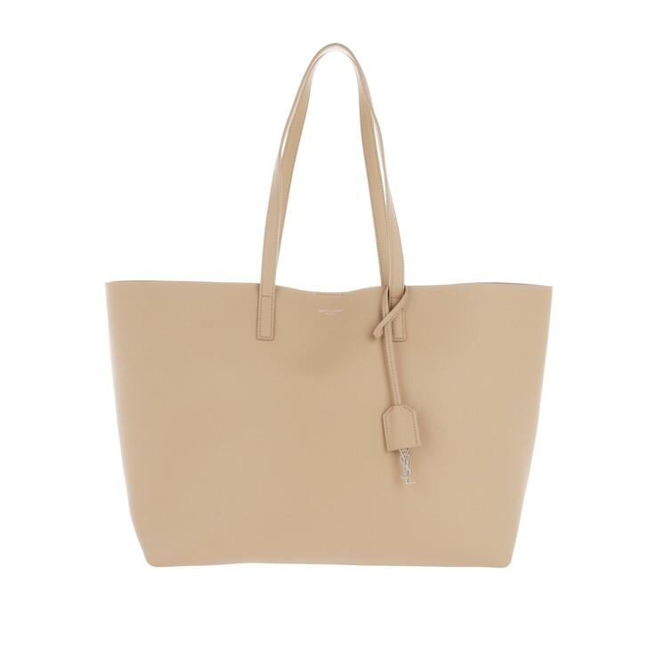 Handtasche, Saint Laurent, East West Shopper Dark Beige