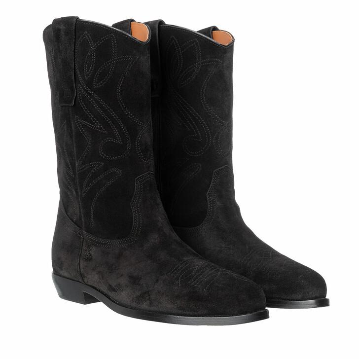 Schuh, Closed, Tarragon Boots Black