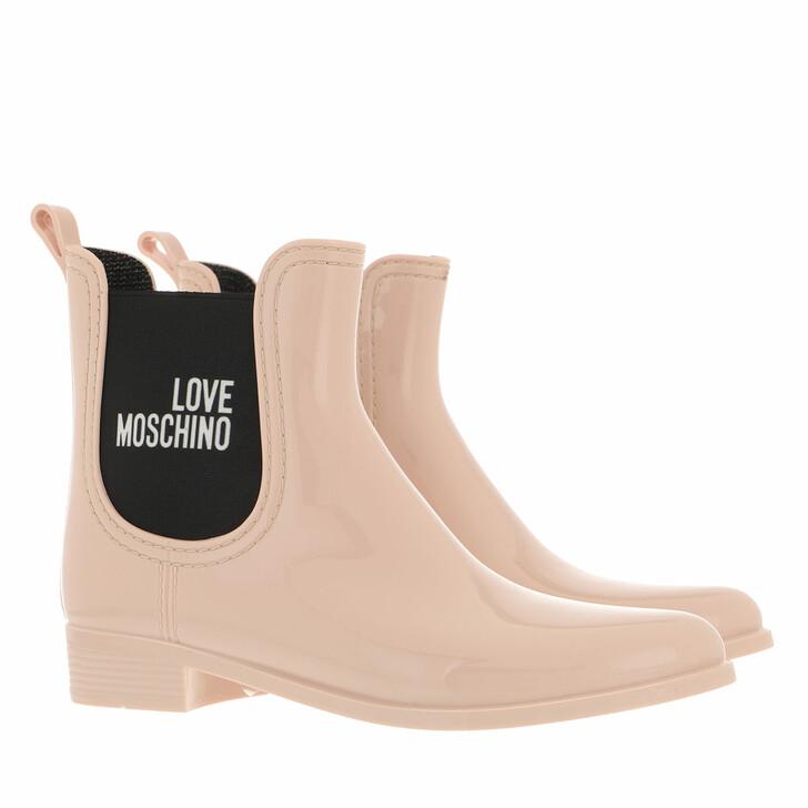 shoes, Love Moschino, Sca Nod Rainboot30 Pvc  Cipria
