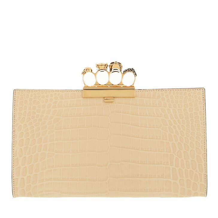 bags, Alexander McQueen, Clutch Dark Beige