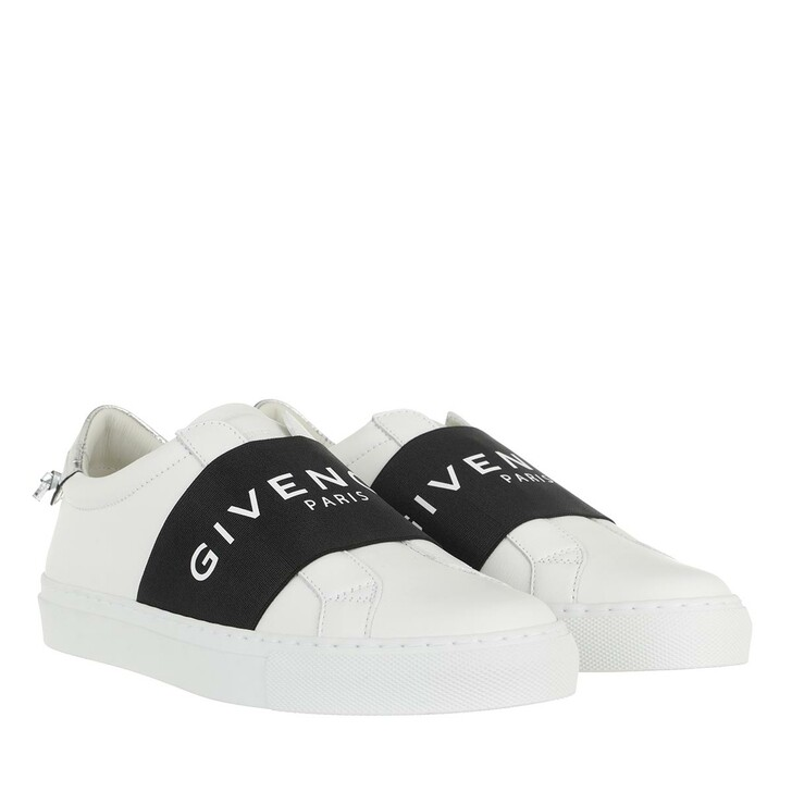 shoes, Givenchy, Urban Street Sneakers Calf Leather White/Silver Grey