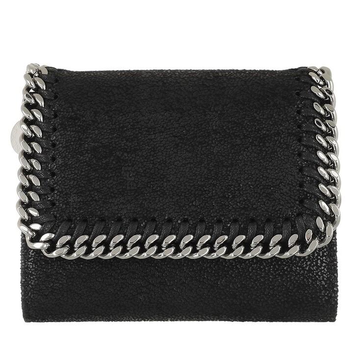 Geldbörse, Stella McCartney, Falabella Small Flap Wallet  Black