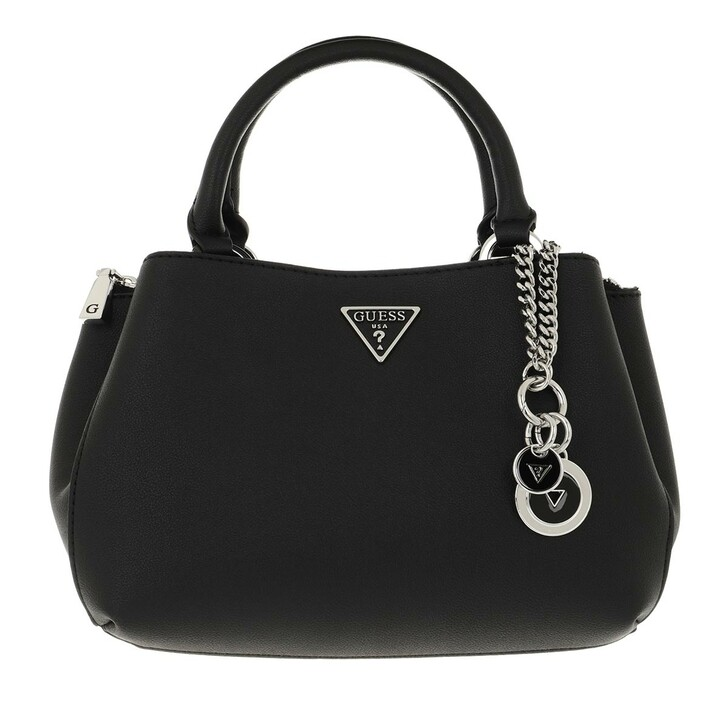 bags, Guess, Ambrose Small Turnlock Satchel Black
