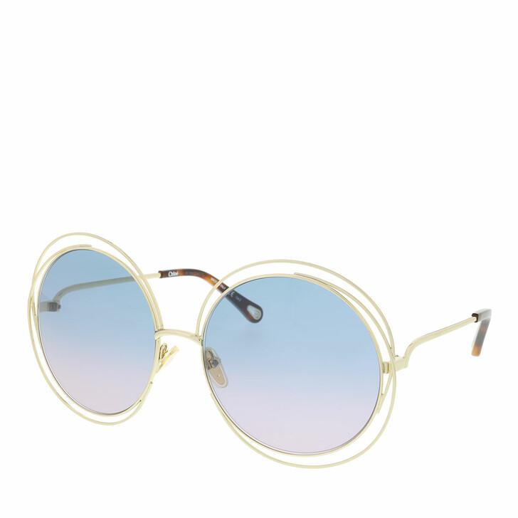 Sonnenbrille, Chloé, Sunglass WOMAN METAL GOLD-GOLD-BLUE