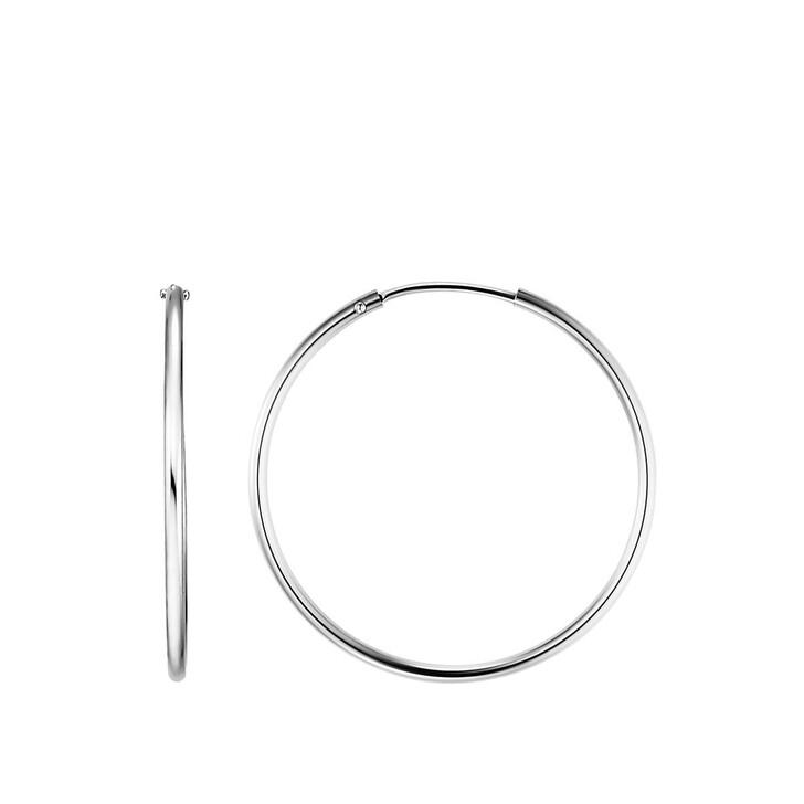 earrings, BELORO, Creole Earring 8k M Silver