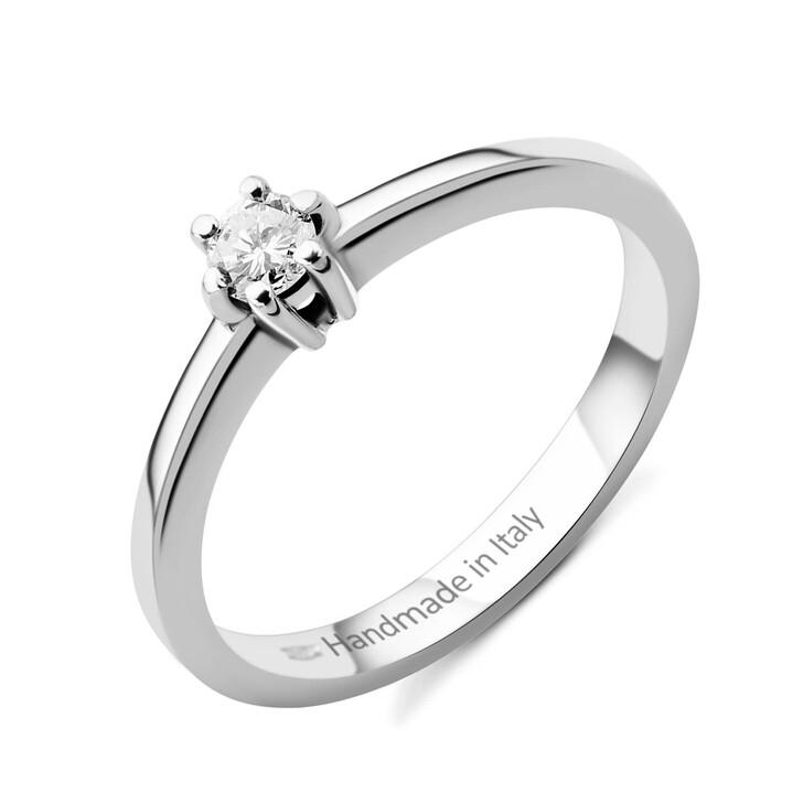 rings, DIAMADA, 0.15ct Diamond Ring 14KT White Gold