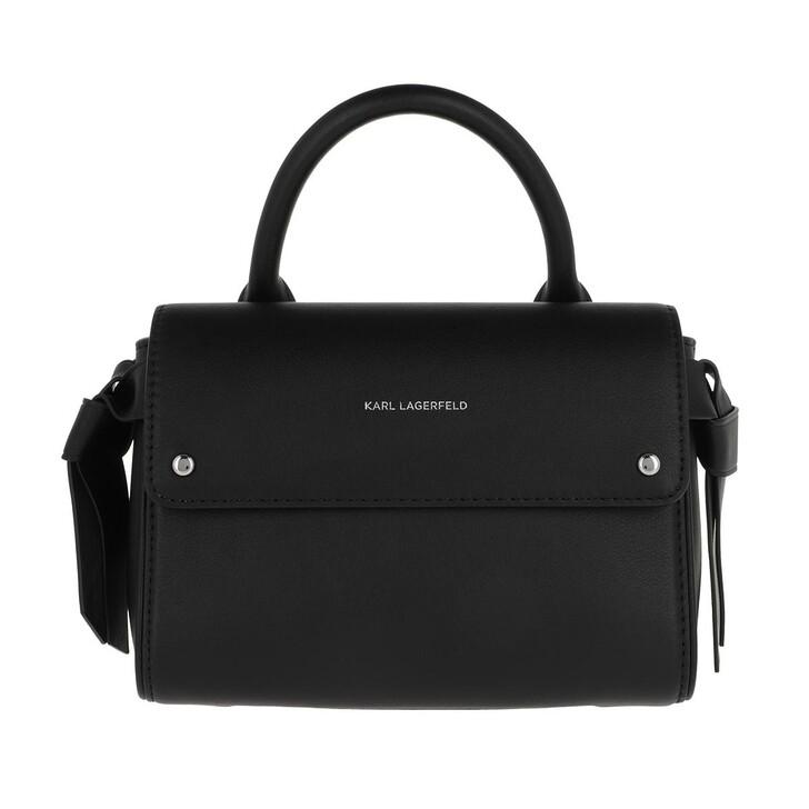 Handtasche, Karl Lagerfeld, Ikonic Mini Top Handle Bag Black