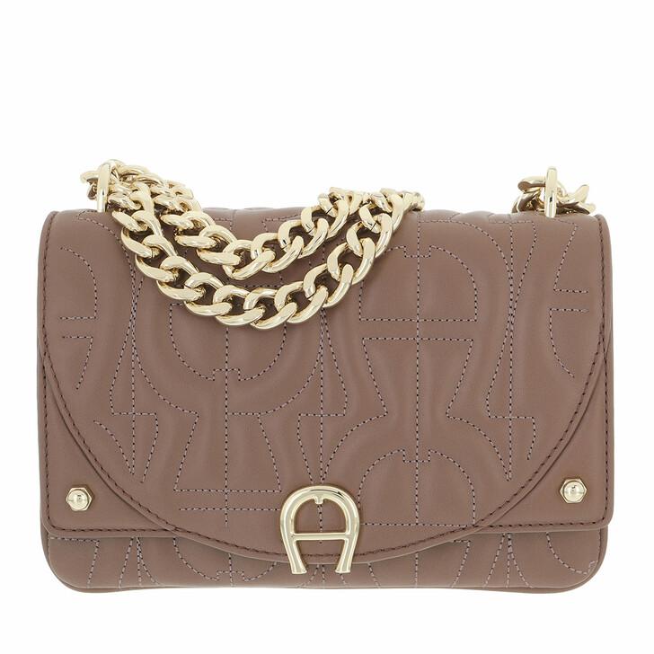 bags, AIGNER, Diadora Mini Bag Mushroom Brown