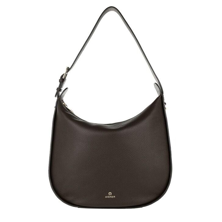 bags, AIGNER, Ivy Hobo Bag Java Brown