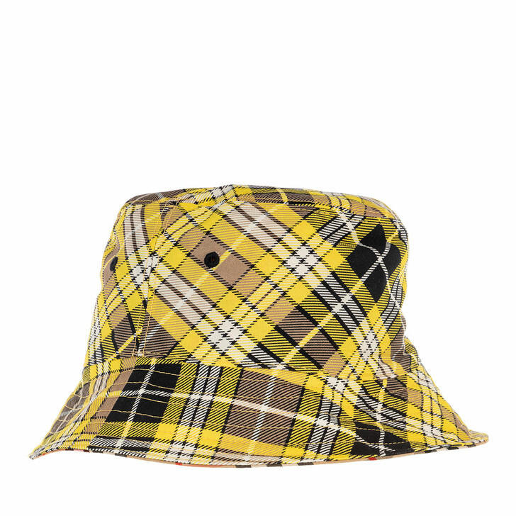 Mütze, Burberry, Bucket Hat Found/Giant Check Yellow/Multi