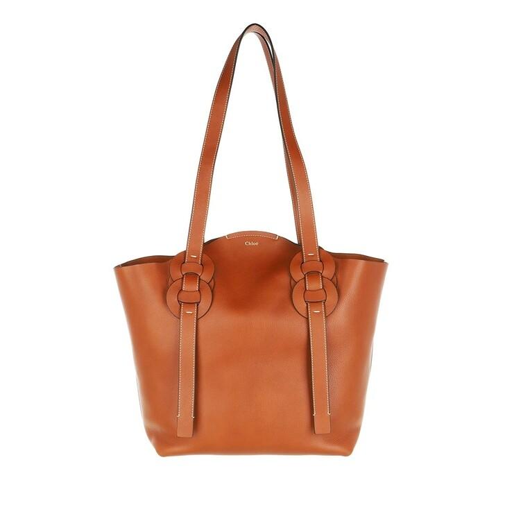 Handtasche, Chloé, Medium Darryl Shopper Calfskin Caramel