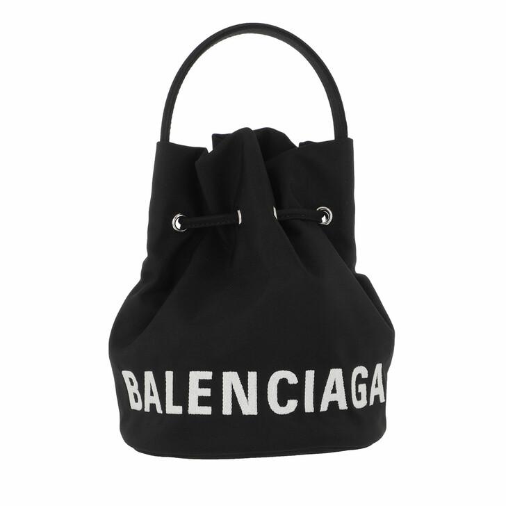 Handtasche, Balenciaga, Wheel XS Bucket Bag Black