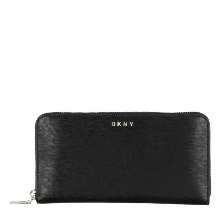 Geldbörse, DKNY, Bryant New Zip Aroun Blk/Gold