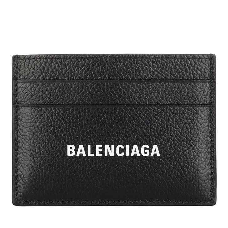 wallets, Balenciaga, Credit Card Holder Leather Black/White