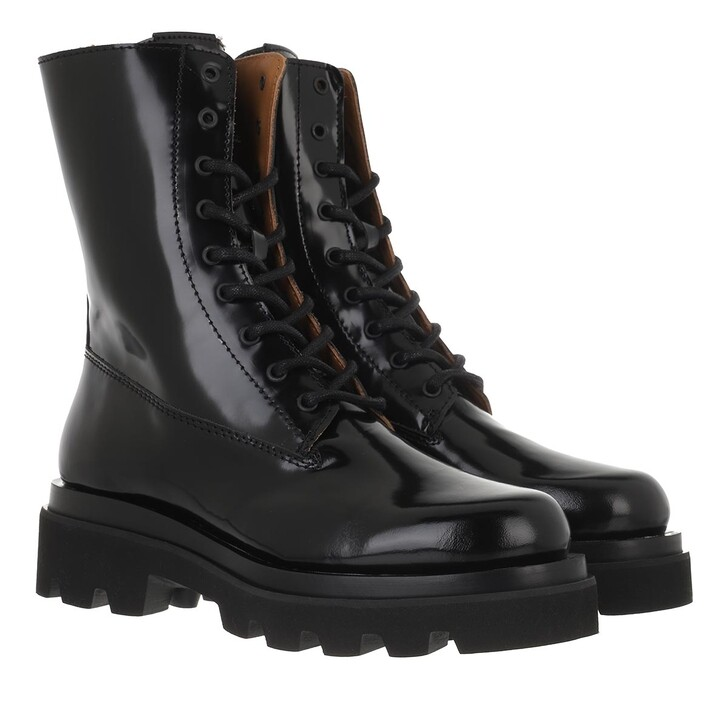 shoes, Toral, Lace-Up Boot With Track Sole Black