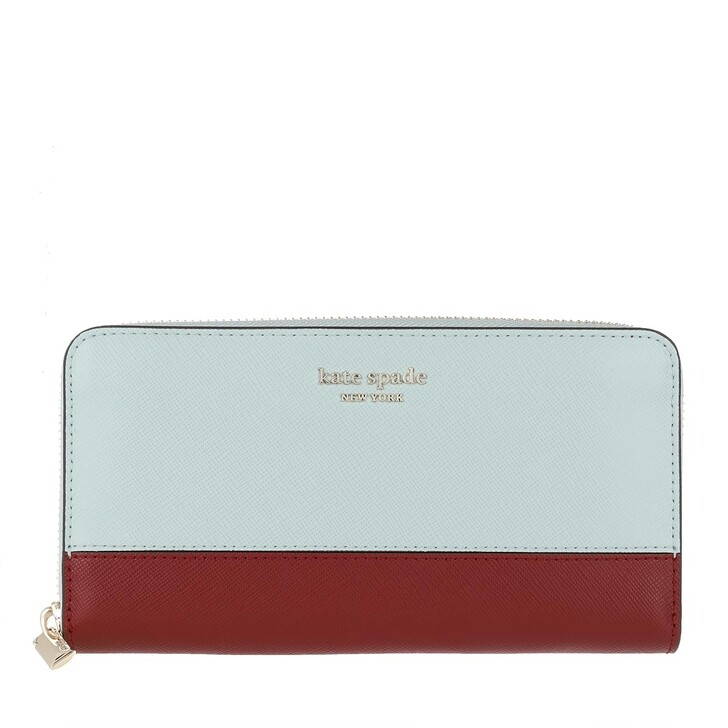 wallets, Kate Spade New York, Zip Around Continental Wallet Cloud Mist Multi