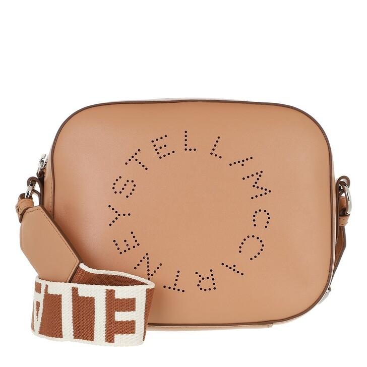 bags, Stella McCartney, Small Logo Crossbody Bag Camel