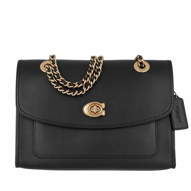 Handtasche, Coach, Refined Leather Parker Shoulder Bag Black