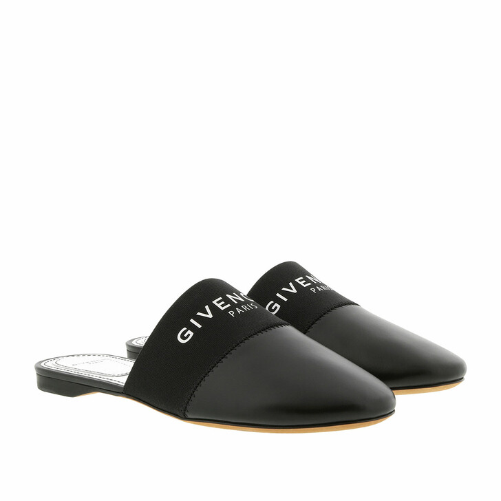Schuh, Givenchy, Logo Slip Mules Leather Black