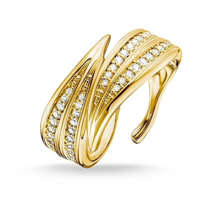 Ring, Thomas Sabo, Ring Leaves Gold