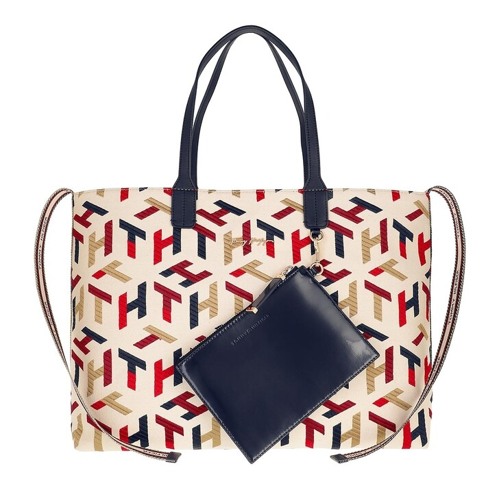 bags, Tommy Hilfiger, Iconic Tommy Tote Mono Embr Corporate Embroidered